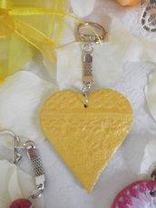 Bomboniere solidali - cuore giallo in terracotta