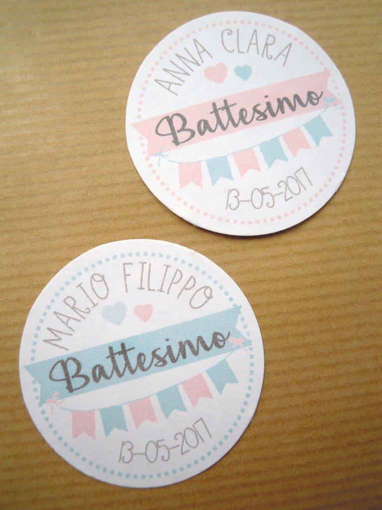 tags bomboniere / bigliettini bomboniere dolcissimi tondo liscio tags tondo 4,45 mm