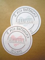 tags bomboniere / bigliettini bomboniere moderni e romantici cuore tondo liscio tags tondo 4,45 mm