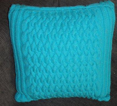 Cuscino per arredamento in lana turchese