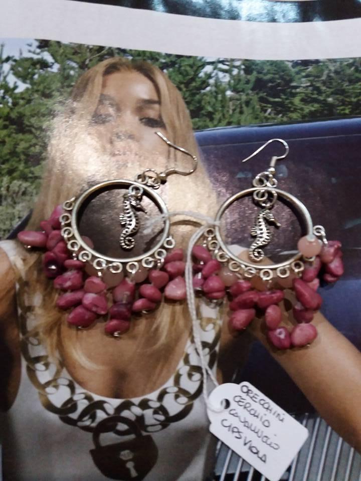 orecchini cerchio glicine