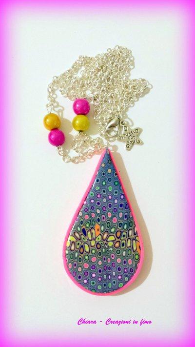 Ciondolo in fimo handmade elegante idea regalo donna Festa della mamma