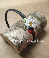 Cerchiello capelli bambina con margherita e coccinella crochet - uncinetto - cotone - idea regalo!