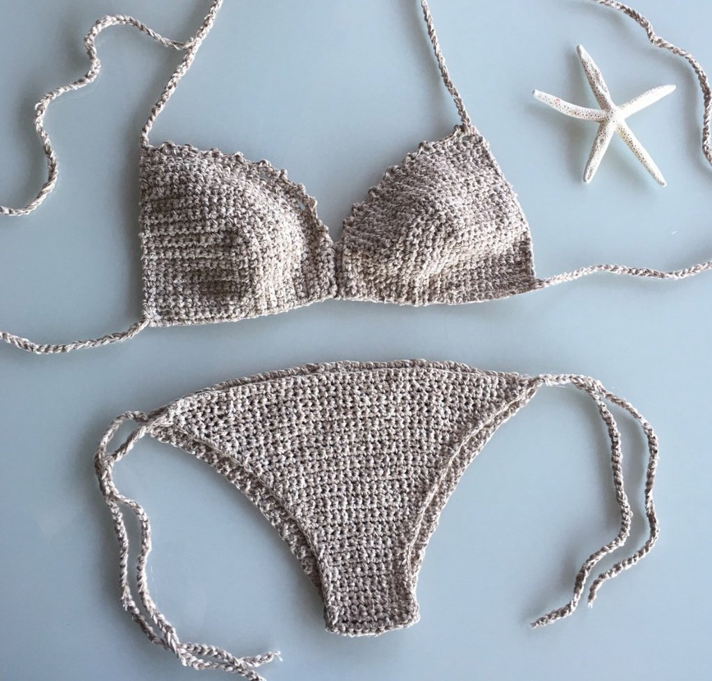 Bikini ricami+slip normale