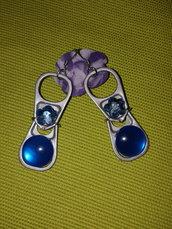orecchini con linguette di lattine