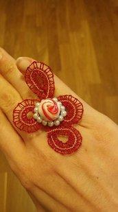 anello tombolo rosso