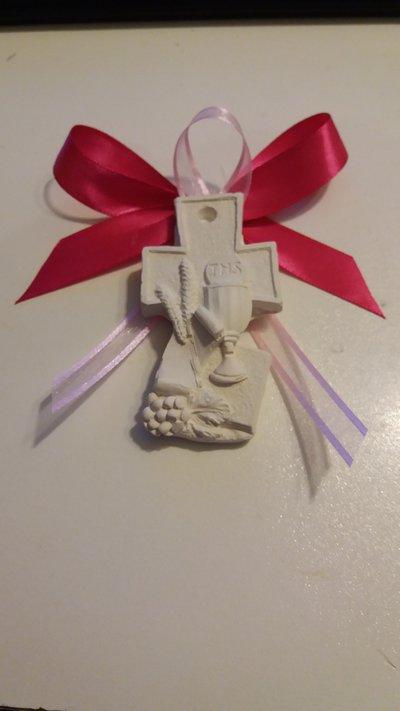bomboniera segnaposto croce icona prima comunione