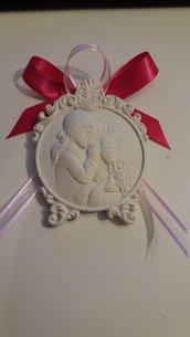 bomboniera segnaposto medaglione con bimba prima comunione