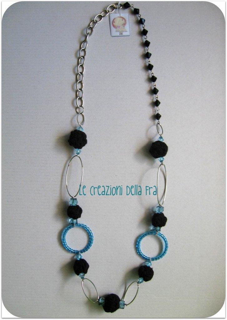 """Collana """"perle di maglina"""" turchese"""