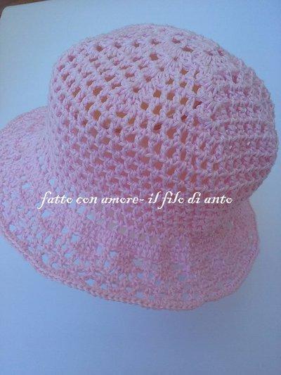 Cappello Bimba In Rosa Con Falda Bambini Abbigliamento Di Fat