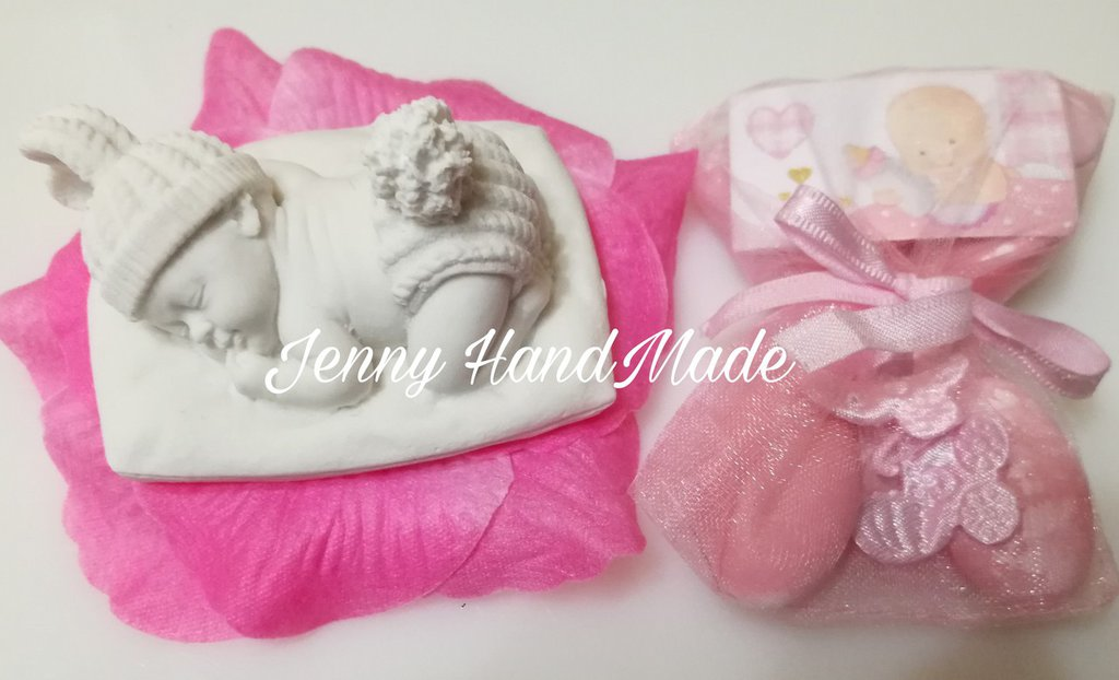 Bomboniera nascita ceramica