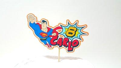 Superman birthday cake topper // Supereroi birthday party // Avengers cake topper // personalizzabile nome e anni cake topper //bubble popart