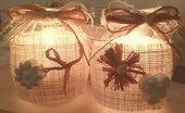 Barattoli luminosi con gessetti