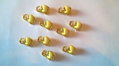 Bottoni elefantino giallo e oro