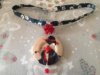Collana con Bottone decorato
