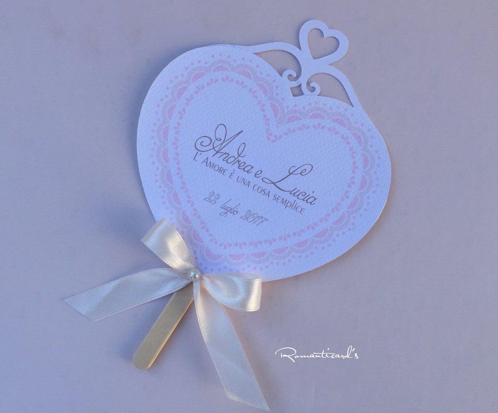 Ventaglio per cerimonia Matrimonio, Battesimo, comunione... by Romanticards