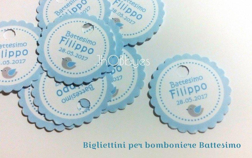60 Bigliettini Bomboniere Battesimo, Dove Comprare ...