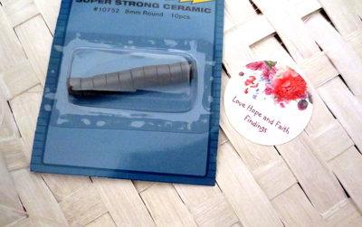 10 Magneti/calamite in ceramica (8 mm)
