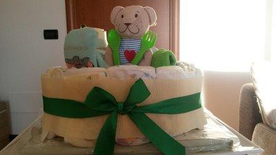 Cestino di pannolini Verde