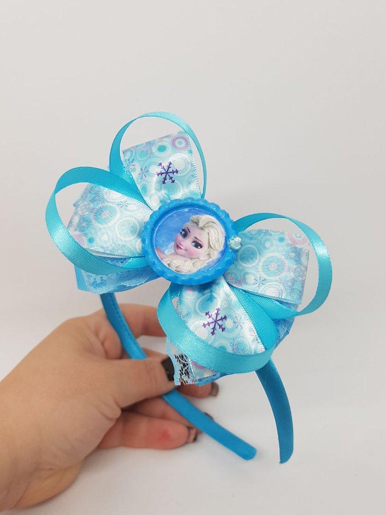 Cerchietto con fiocco Elsa