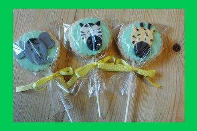 Biscotti decorativi animali giungla/circo