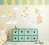 Aquiloni adesivi murali per bambini