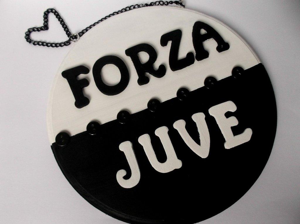 Lettere Di Legno Da Appendere : Juventus quadretto in legno da appendere con lettere e bottoni