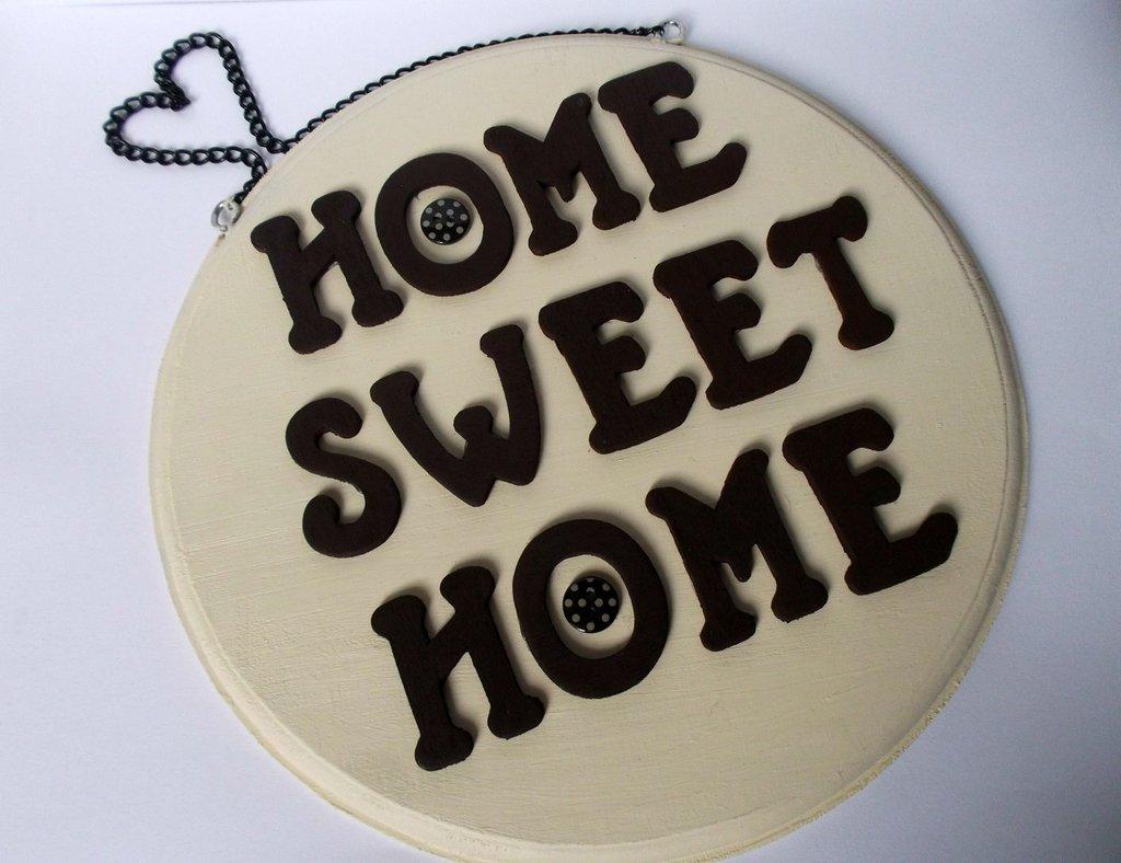 Lettere Di Legno Da Appendere : Home sweet home quadretto in legno da appendere con lettere in