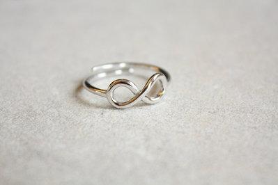 Anello dell' infinito  d'argento