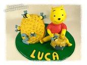 Cake topper winnie the pooh e alveare