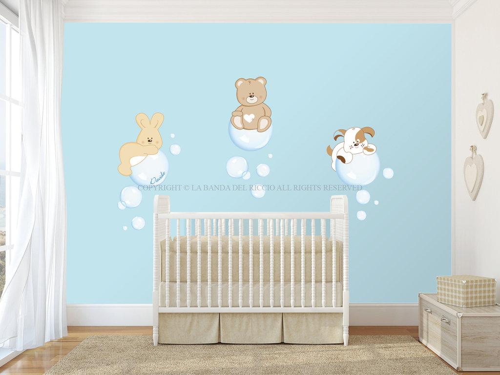 Le bolle di sapone adesivi da muro per la camera dei tuoi for Adesivi da attaccare al muro
