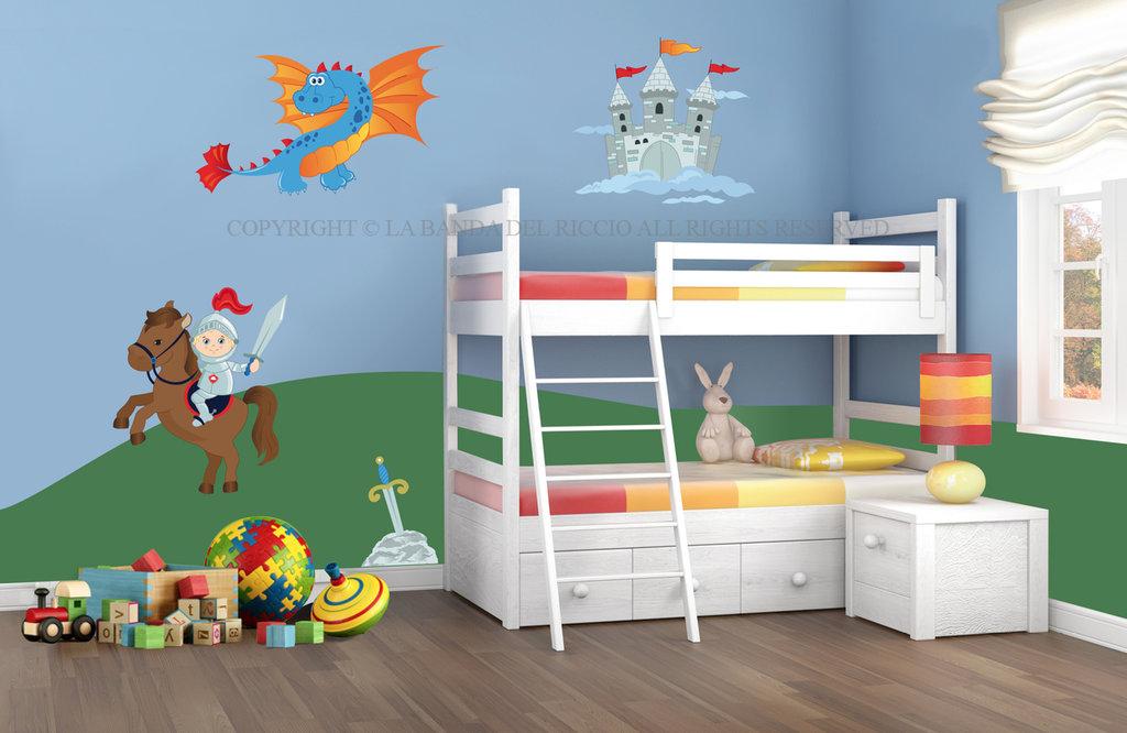 Cavalieri e draghi adesivi da muro per la camera dei tuoi bambini su misshobby - Stickers bambini ikea ...