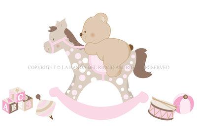 Cavallino A Dondolo Disegno.Cavallo A Dondolo Adesivi Murali Bambini Bambini Cameretta