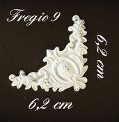 Fregio #9 in resina angolare decorativo per mobili