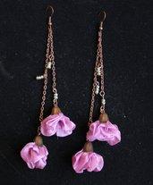 orecchini fiore di organza