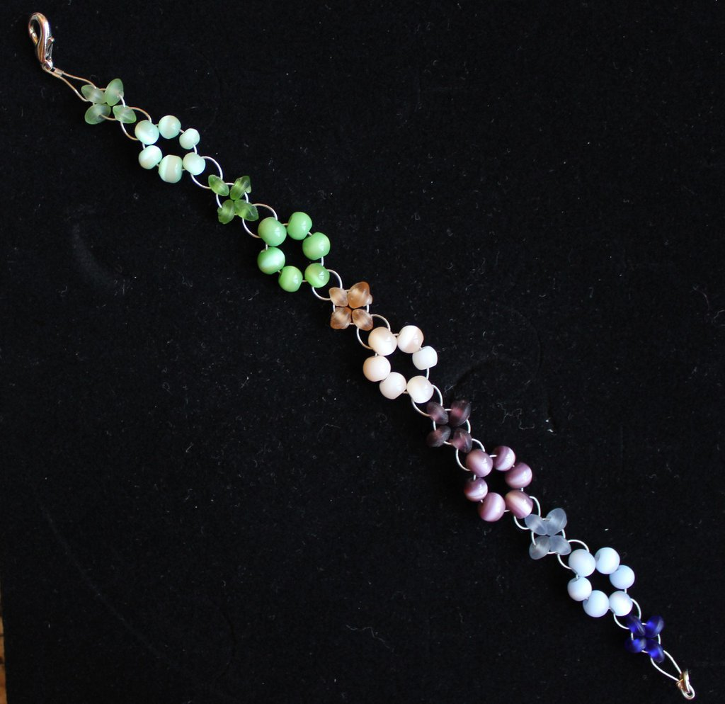 bracialetto di perline  colorato