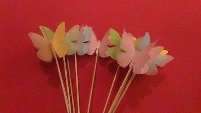 10 Farfalle segnaposto, decorazione per Battesimo, feste, bomboniera