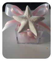Bomboniera stella marina su scatolina plexi