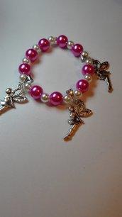 Bracciale elastico con perle e charms