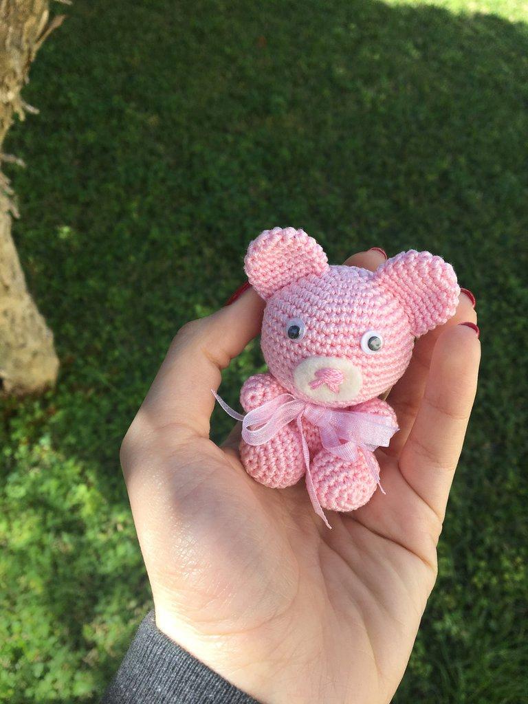 Orsetto rosa amigurumi