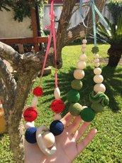 Collana colorata ad uncinetto