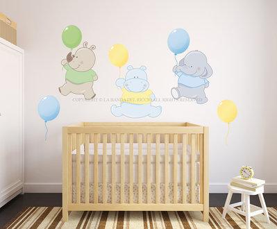 I Palloncini adesivi da muro per la camera dei tuoi bambini