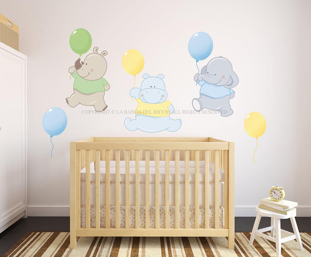I palloncini adesivi da muro per la camera dei tuoi - Stencil adesivi per mobili ...