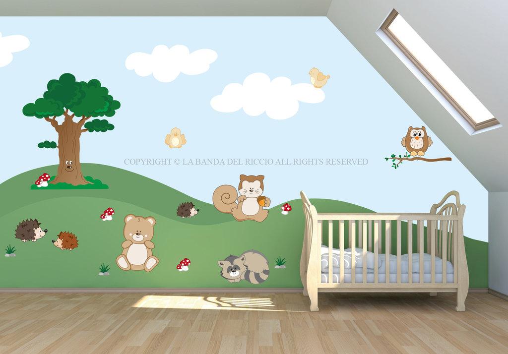 Il Bosco Incantato adesivi da muro per la camera dei tuoi bambini