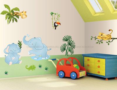 Il Safari adesivi da muro per la camera dei tuoi bambini
