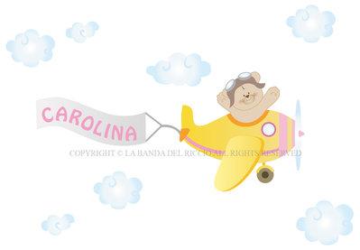 Adesivi murali bambini decorazioni camerette l 39 aeroplano - Decorazioni murali bambini ...