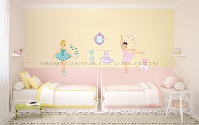 Le Ballerine adesivi da muro per la camera dei tuoi bambini
