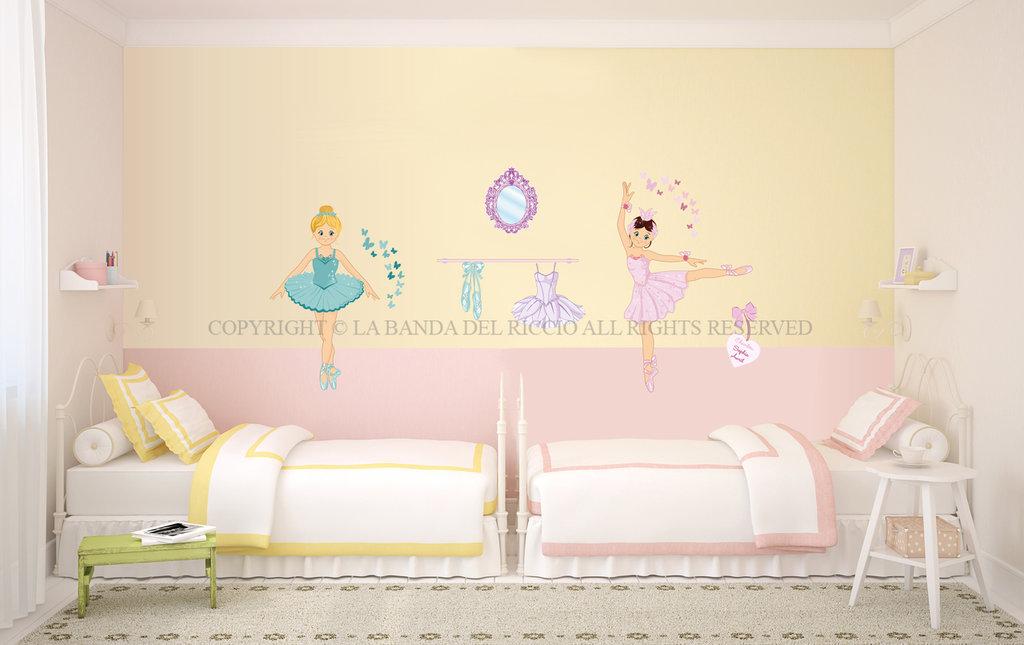 Le ballerine adesivi da muro per la camera dei tuoi - Adesivi per muro cameretta ...