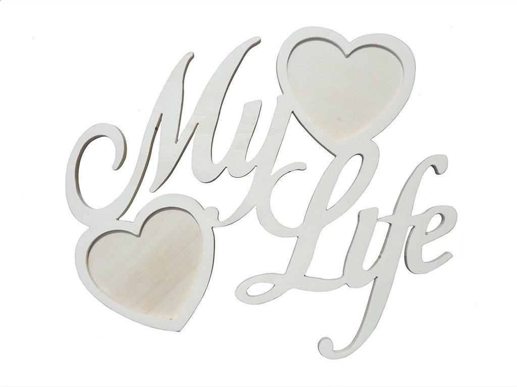 Portaritratti porta foto in legno scritta My Life