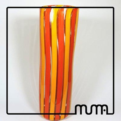 Vaso in vetro artistico, fatto in fornace veneziano
